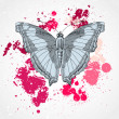 Vector decorative butterfly background — Stock Photo