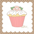 Cupcake doodle - Stock Photo