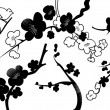 Vector of plum blossom Pattern - Stock Photo