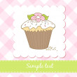 Cupcake birthday card - Foto Stock