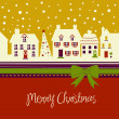 Christmas card, cute town at christmas time — Stock Photo #7550912