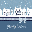 Christmas card, cute town at christmas time — Stock Photo