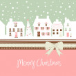 Christmas card, cute town at christmas time — Stock Photo #7550930