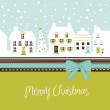Christmas card, cute town at christmas time - Stock Photo