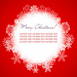 Red background with snowflakes — Stock Photo