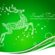 Royalty-Free Stock Photo: Beautiful Reindeer on Green background