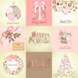 Stok fotoğraf: Set of Christmas Backgrounds