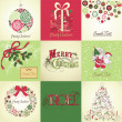 Stock Photo: Set of Christmas Cards