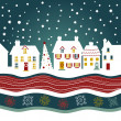 Royalty-Free Stock Photo: Christmas card, cute town at christmas time