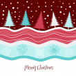 Christmas tree background, vector illustration — Stock Photo #7550993