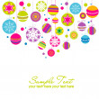 Colorful card with christmas balls, vector illustration - Stock Photo