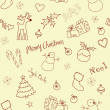 Stock Photo: Christmas doodles. Seamless pattern