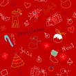 Christmas doodles. Seamless pattern — Stock Photo
