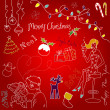 Cute Christmas and New Year doodles — Stock Photo