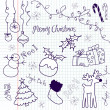 Cute Christmas and doodles — Stock Photo #7551050
