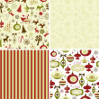 Stock Photo: Set of Christmas patterns