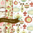 Set of Retro Christmas patterns — Stock Photo