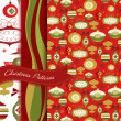 Stock Photo: Set of Retro Christmas patterns