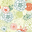 Stock Photo: Retro floral seamless background. Romantic seamless pattern