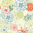 Retro floral seamless background. Romantic seamless pattern — Stock Photo