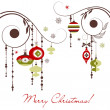 Christmas Retro Decorations - Foto Stock
