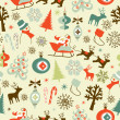 Stock Photo: Christmas Seamless Pattern