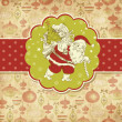 Christmas Card. Santa Claus with Bag of gifts. — Стоковая фотография