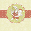 Christmas Card. Santa Claus with Bag of gifts.  — Stock Photo #7551345