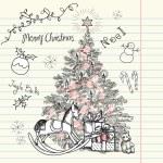 Christmas doodles — Stock Photo