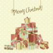 Royalty-Free Stock Photo: A huge pile of Christmas gifts. Vector Illustration