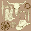 Wild West Western Set — Stock Photo