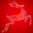 Royalty-Free Stock Photo: Christmas deer, vector illustration