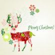 Christmas deer — Stock Photo
