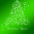 Stock Photo: Christmas tree card