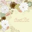 Floral greeting card - Stock Photo
