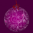 Beautiful Christmas ball illustration. Christmas Card — Stock Photo