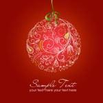 hermosa ilustración de bola de Navidad. tarjeta de Navidad — Foto de Stock