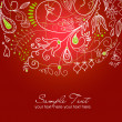 Floral hand drawn Christmas background — Stock Photo #7551892