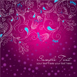Floral hand drawn Christmas background — Stock Photo #7551911
