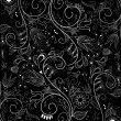 Black and White Floral Background - Stok fotoğraf