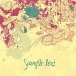 Grunge Flower Doodles — Stock Photo