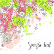 Hand-Drawn Abstract Doodles and Flowers Vector Illustration — Stock Photo