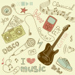 Music Vector Doodles - ストック写真