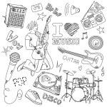 I LOVE MUSIC — Stock Photo