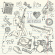 Cool Music Doodles — Stock Photo