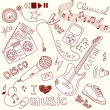 Music Vector Doodles — Foto Stock