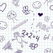 Royalty-Free Stock Photo: Children\'s drawings. Seamless background.