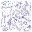 Dance doodles - Foto de Stock  