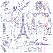 LOVE in Paris doodles — Stock Photo #7552181