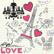 LOVE in Paris doodles — Stock Photo #7552195